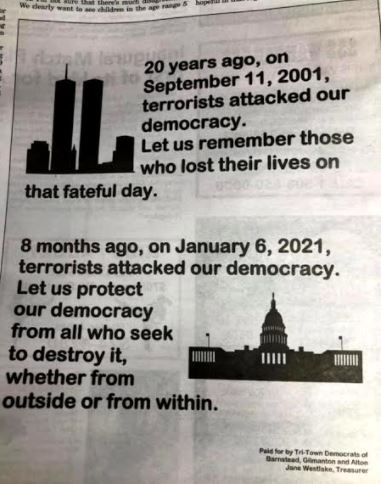 New Hampshire Democrat committee publishes ad on 20th anniversary of 9/11 attacking Americans