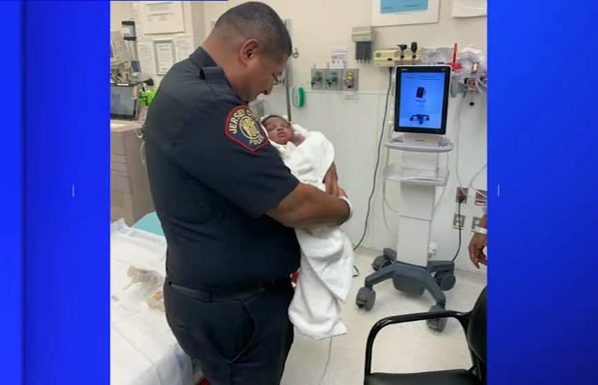 Police officer in New Jersey catches 1-month-old baby dropped from balcony