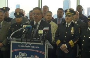 Port Authority PBA, Hudson sheriff's office, firefighters unions endorse Menendez in 2018 - YouTube screenshot (courtesy of Hudson County Review)