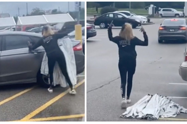 Getaway car escapes, but leaves behind shoplifting suspect in viral video