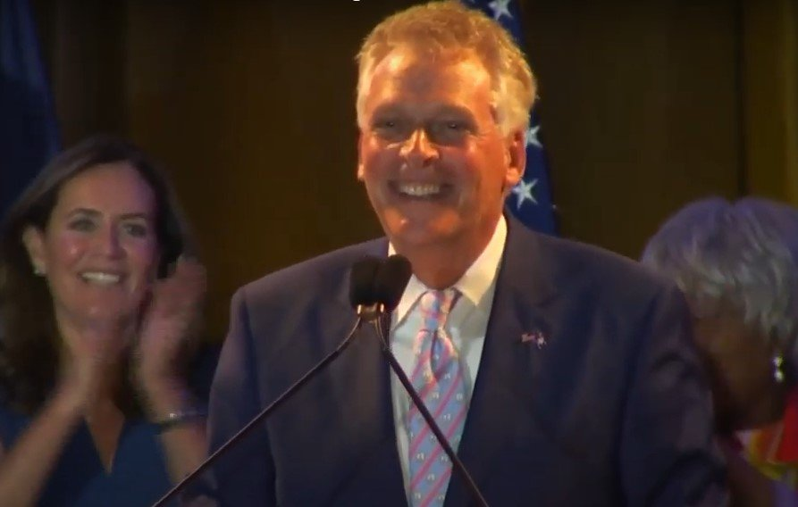 Terry McAuliffe, candidate for Virginia Governor - Screenshot courtesy of WSLS on YouTube