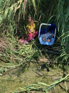 Two children found abandoned by Border Patrol agents along Rio Grande - courtesy of CBP