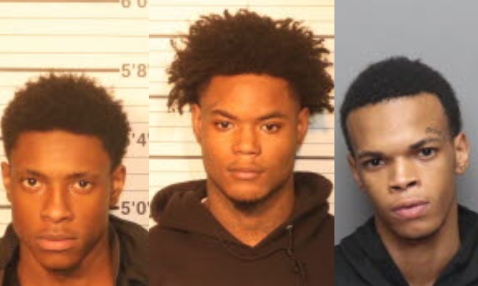 3 arrested for allegedly ramming cop car in stolen vehicle, caught with stolen police gun
