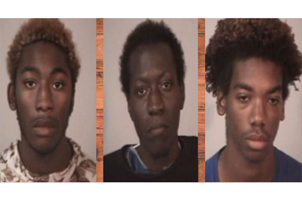 The suspects have been identified as 19-year-old Jabez Clark, 18-year-old Korey Richardson, and 20-year-old Jacob Land.