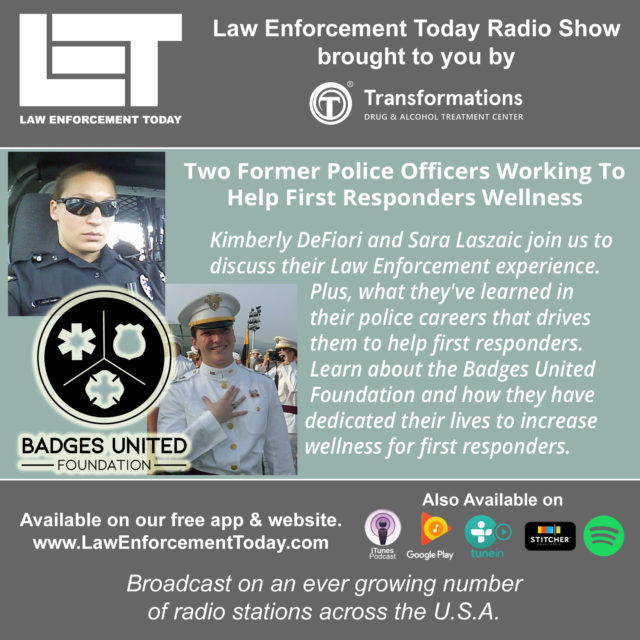 (Law Enforcement Today Podcast cover image, featuring Badges United Foundation.)