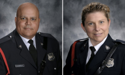 "In Memoriam Constables Lawrence Robert ""Robb"" Costello and Sara Mae-Helen Burns"