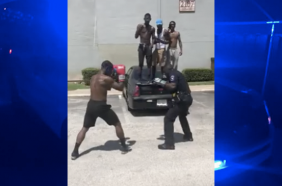 Uniformed Officer Squares off With Teen in Friendly Boxing Match