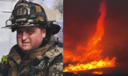 Record setting fire tornado claims life of a firefighter and a bulldoze operator