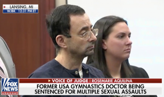 Judge to Olympic Gymnastics Doctor: 'It is my honor and privilege to sentence you'
