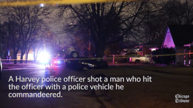 Suspect Shot While Striking Officer With Commandeered Police Unit