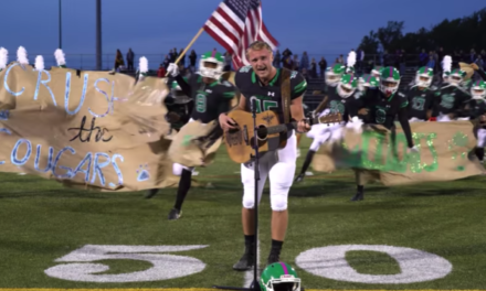 Maryland High School Football Player Woos Crowd Singing National Anthem