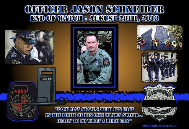 (Officer Jason Schneider Graphics courtesy Rose Borisow GrafX)