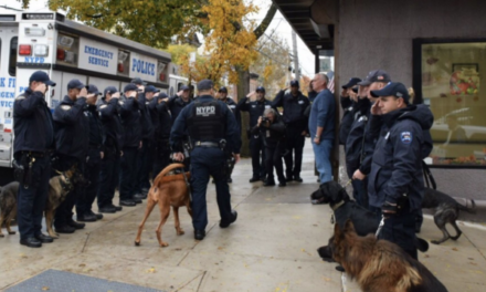 NYPD says goodbye to K9 with cancer