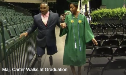 Miami-Dade Police Major Who Lost Legs Walks at Daughter's Graduation
