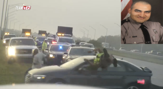 Florida Highway Patrol Trooper Thrown Into Air While Investigation Collision