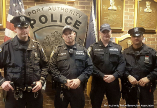 Four Port Authority Cops Hailed as Heroes in New York Terror Attack
