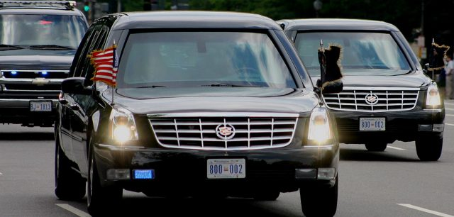 Crazy Motorist Tries to Cut Into Presidential Motorcade