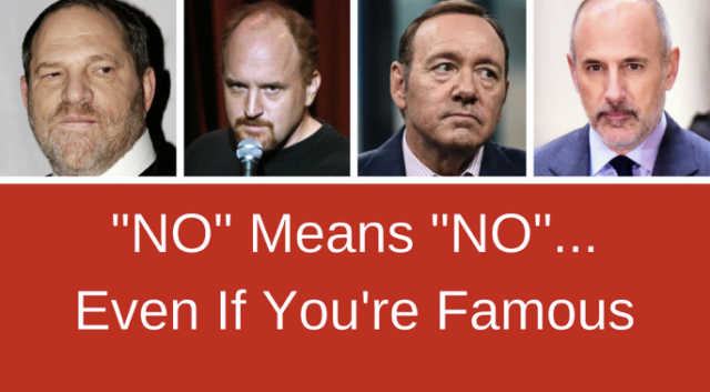 No Means No . . . Even if You're Famous