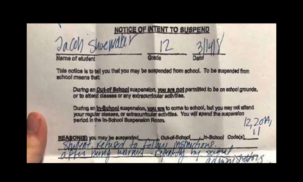 Ohio High School Student Suspended While Remaining in Class During National Walkout Day