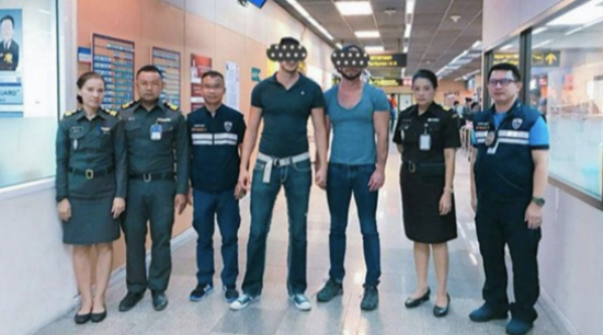 Two American Men Arrested for 'Mooning' at Bangkok Temple