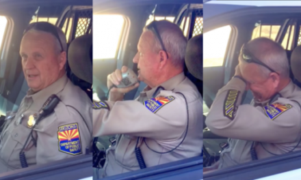 Arizona Trooper Bids Emotional Farewell