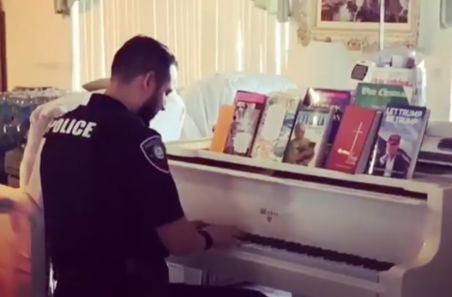 Officer Becomes 'Piano Man' Responding to 911 Call