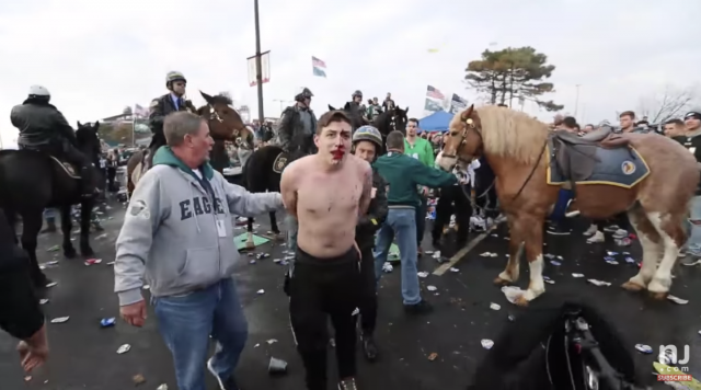 Philadelphia Eagles Fan Arrested After Punching Police Mounted Horse