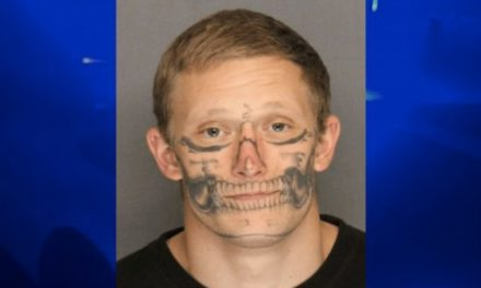 Skull-Faced Tattoo Inmate on the Loose
